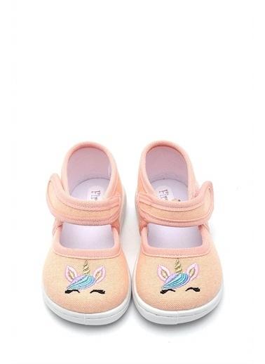First Step Simli  Nakışlı Keten Çocuk Ayakkabı-F-4008 Renkli